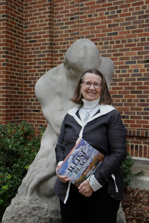 An Illini Place is a book by Lex Tate and John Franch, graduates of the College of Media. Pictured here, Tate is a lecturer in journalism and advertising at the University.