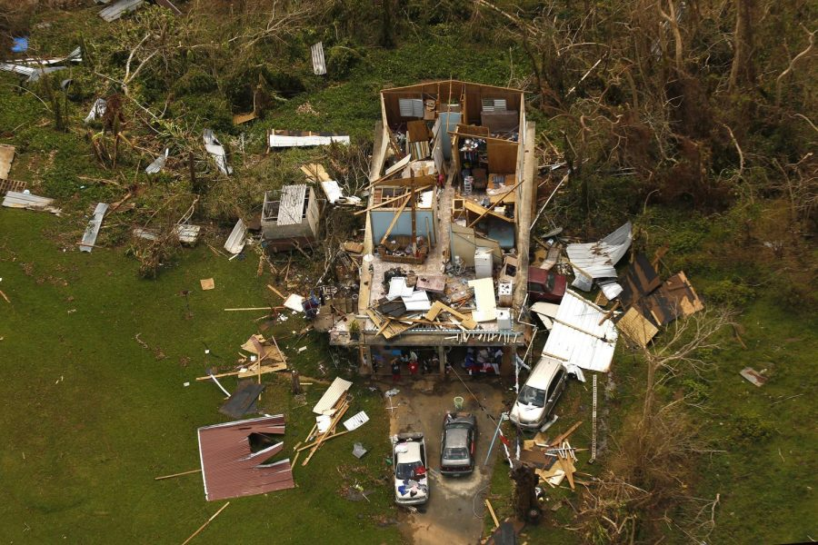 Just one example of the devastation caused by hurricane Maria, shown on Sept. 25, 2017. Gabriel Sierra, sophomore in Engineering, said his family was spared extreme damage to their home, noting that flooding and trees being uprooted occurred.