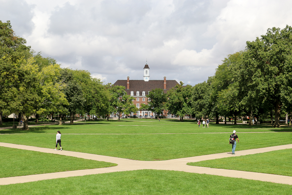 The Main Quad in the heart of campus. Design editor Cindy thinks this is a great place to relax and catch up with friends.