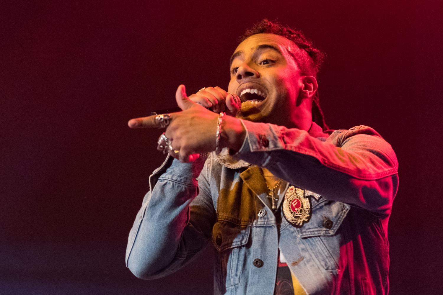 Vic Mensa performs at the Canopy Club Sunday night. This is the first time in over 4 years since Mensa has performed in Urbana, IL.