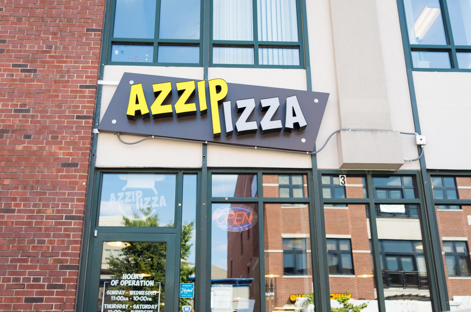 The Azzip Pizza located at 505 East Green St. This location will be permanently closed as of Saturday.