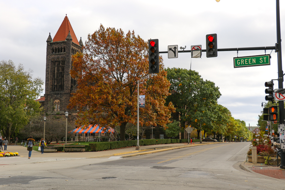 The Homecoming Parade will make its way up Wright St. then turn right onto Green St.