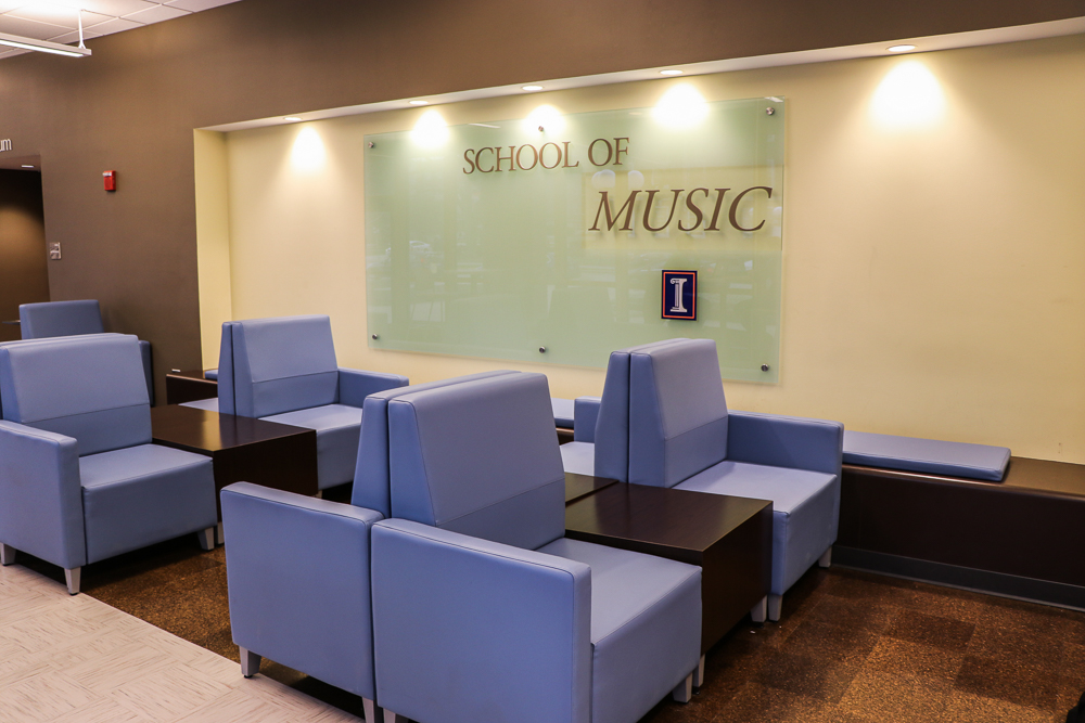 The interior of the Music Building located on Goodwin.