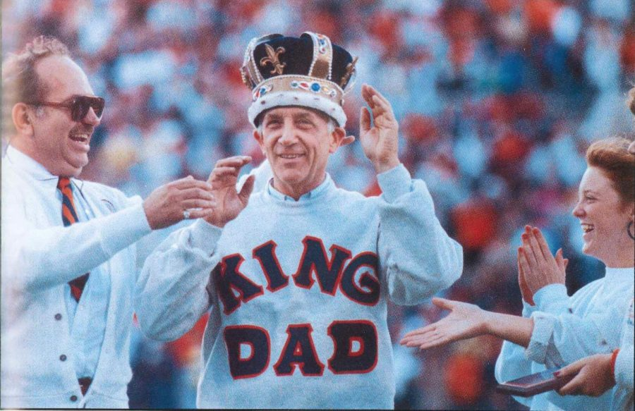 Robert+Randall+is+crowned+King+Dad+in+1991.+This+was+a+competition+in+which+students+voted+on+the+best+Illinois+dad+of+that+year.+