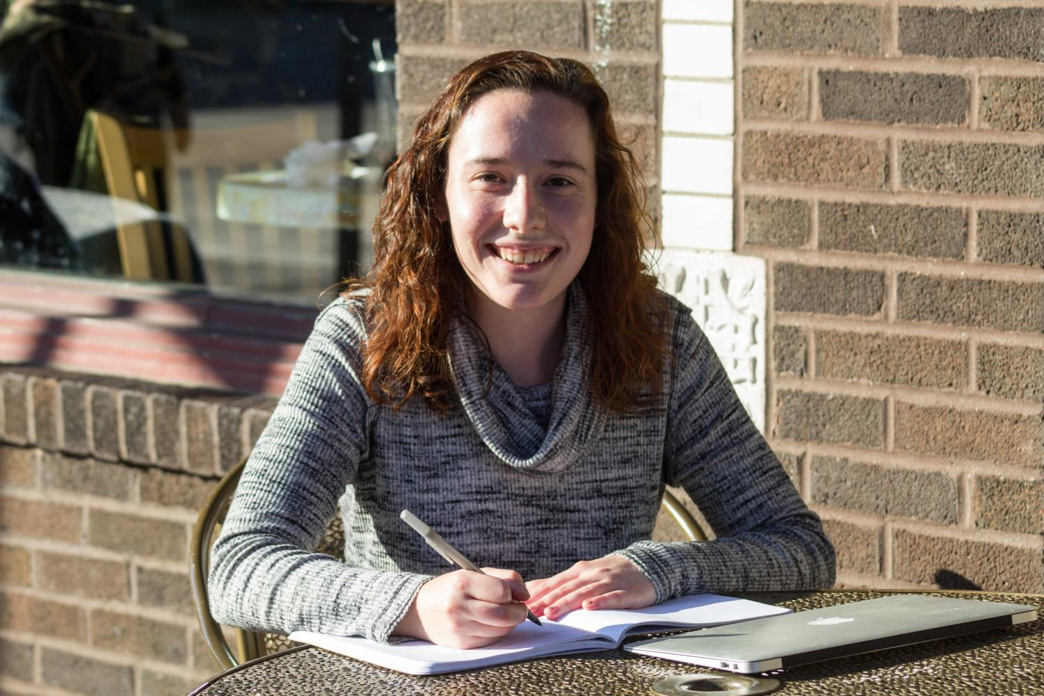 Co-editor in chief of Re:Search, a literary criticism journal, Hannah Downing, does most of her work at Espresso Royal on Sixth and Daniel. The journal showcases submitted literary work from students all across campus.