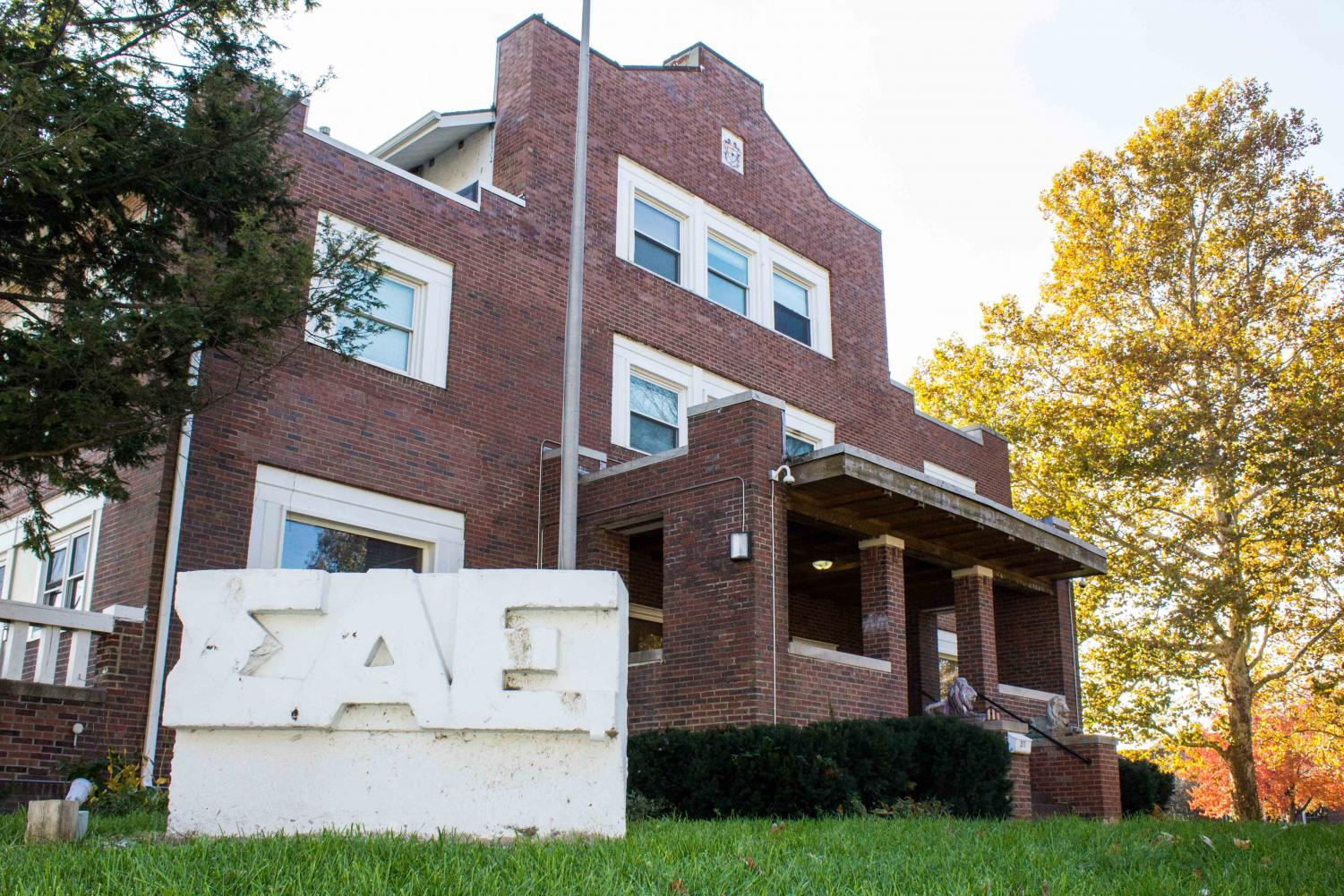 Sigma Alpha Epsilon fraternity house located at 211 East Daniels St.