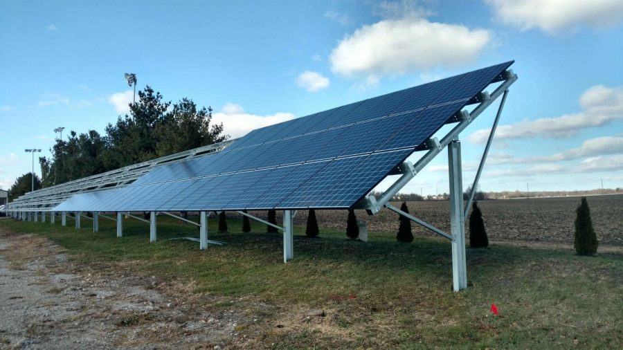 Riggs Beer Company, above, located in Urbana, is in the process of going solar. The brewery plans to rely on solar energy by the end of the year which will cost about $240,000. Kegs of beer, below, are lined up in the brewery.