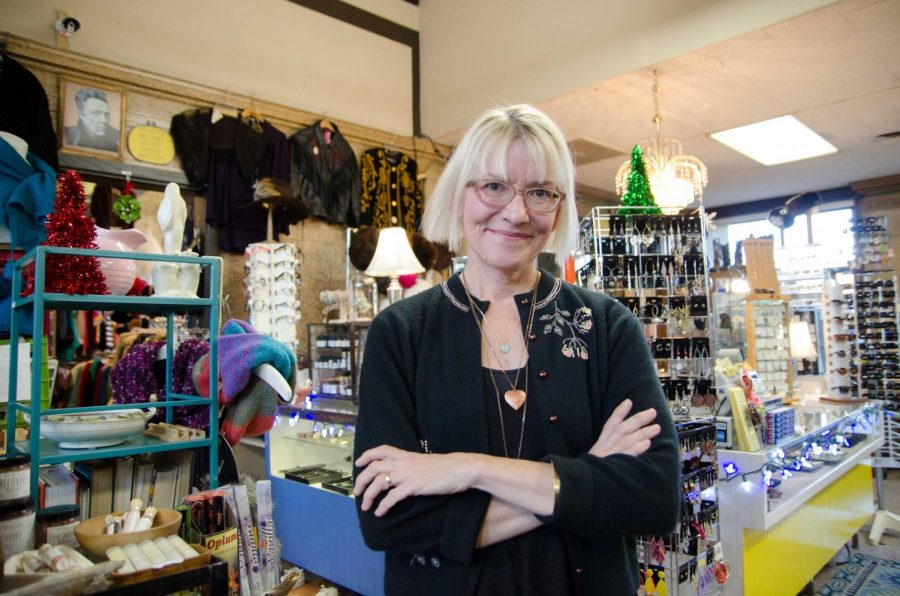 Sara Hudson owns the Dandelion Store located at 100 N Chestnut St. in downtown Champaign.