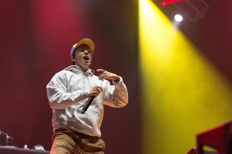 Rapper Logic, also knowns as Sir Robert Bryson Hall II, at the Okeechobee Music Festival in Okeechobee, Fla.