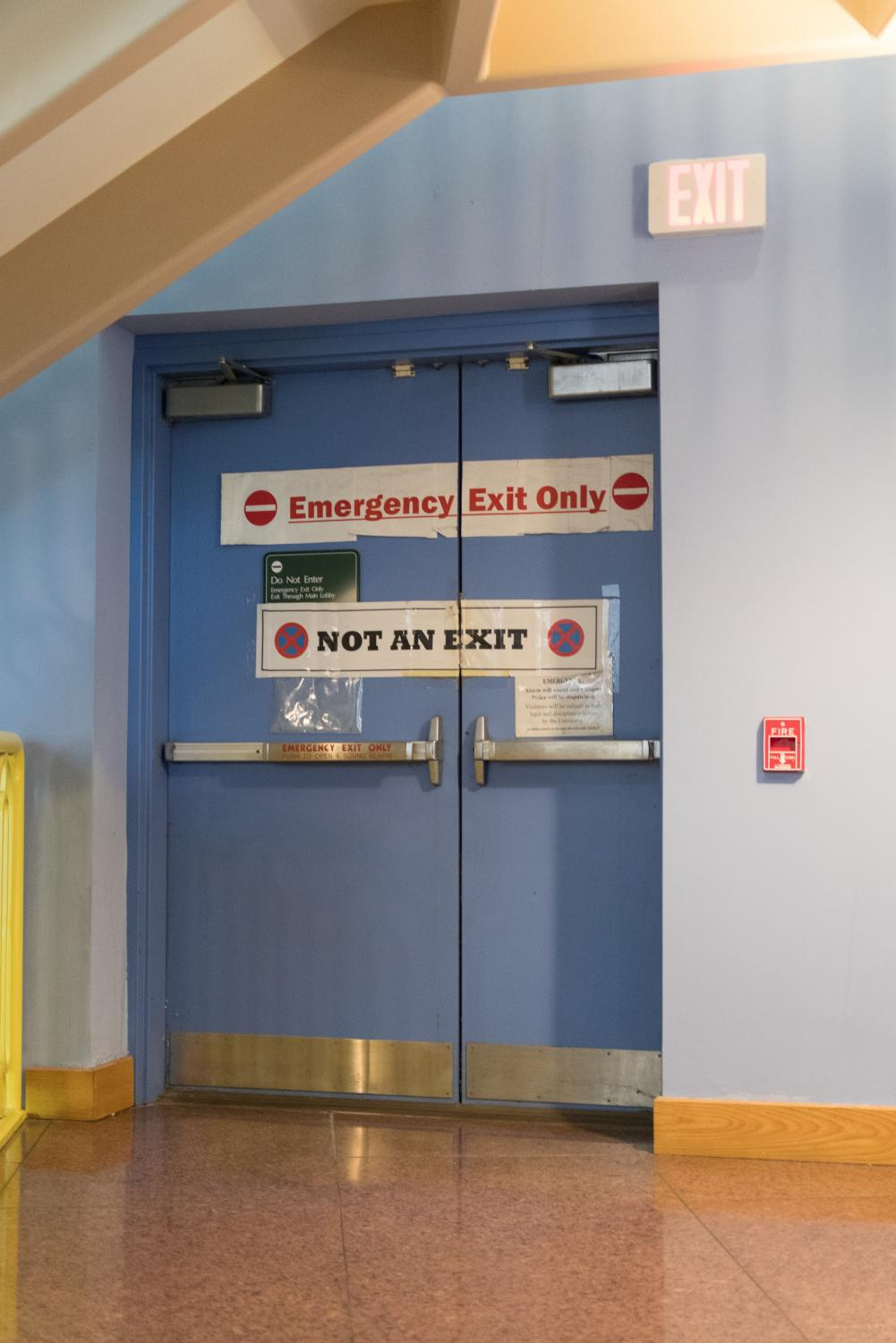 Emergency Exits Too Often Overlooked On Campus