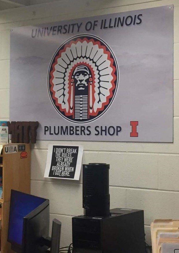 The+Plumbers+Shop+in+the+University+of+Illinois+Facilities+%26+Services+building%2C+1501+S.+Oak+St.+in+Champaign.+The+Illinois+Student+Government+passed+a+resolution+on+Wednesday+to+remove+Chief+Illiniwek+symbols+from+all+University+buildings.