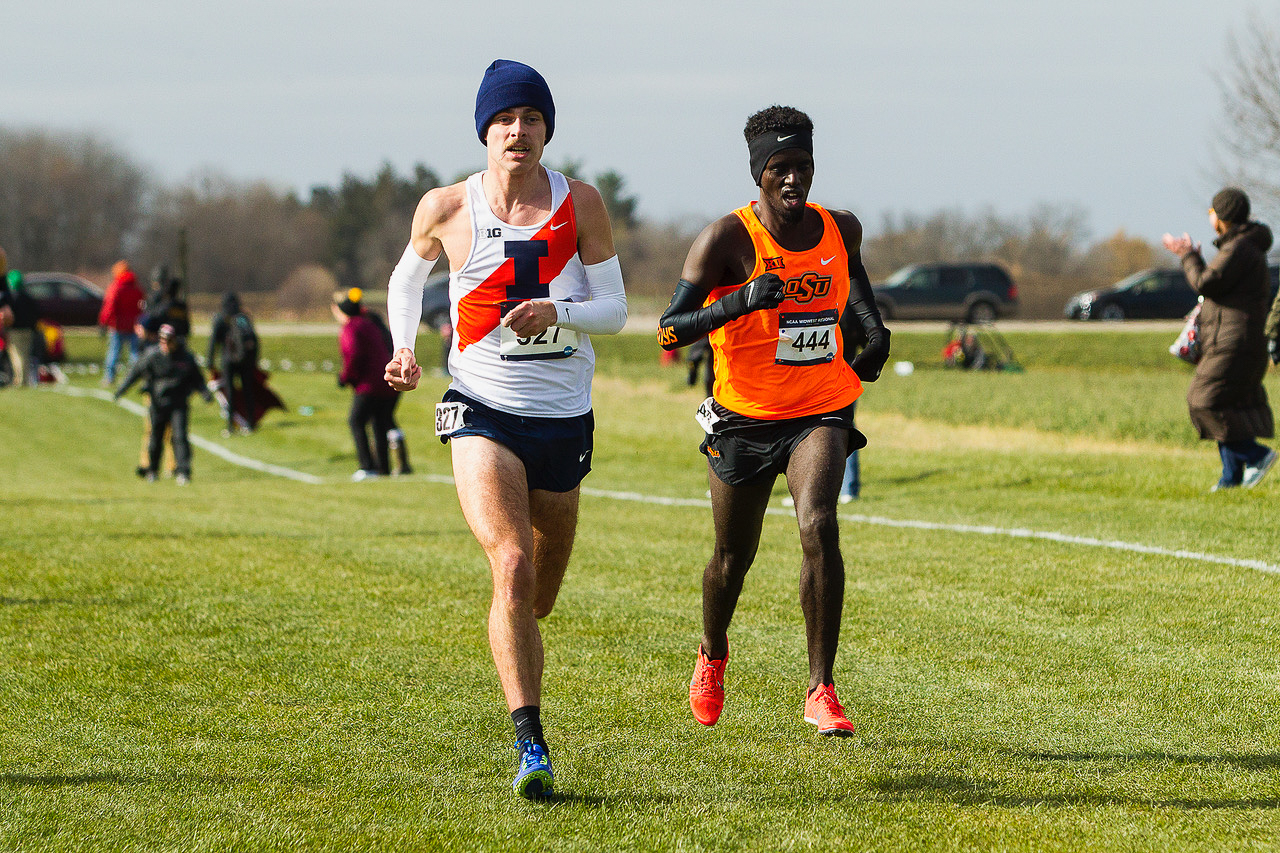 Jon Davis became the 498th American to run a sub-four-minute mile. Davis clocked in his mile at 3:58:46 at the Illini Classic on Saturday, setting University records.