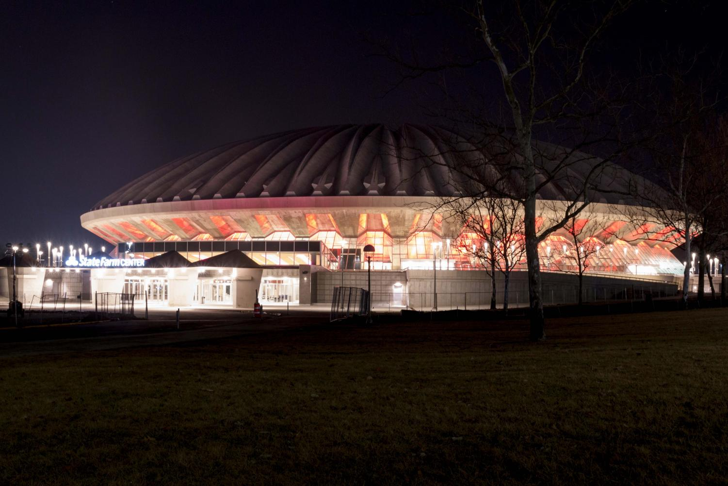 Photo of the State Farm Center on Jan. 22, 2017