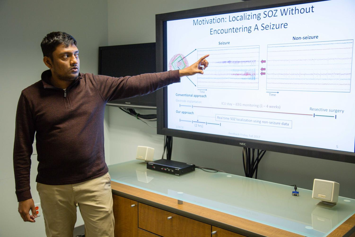 Ph.D. candidate Yogatheesan Varatharajah has developed an artificial intelligence technique that can help identify seizure-causing brain regions for those with epilepsy.
