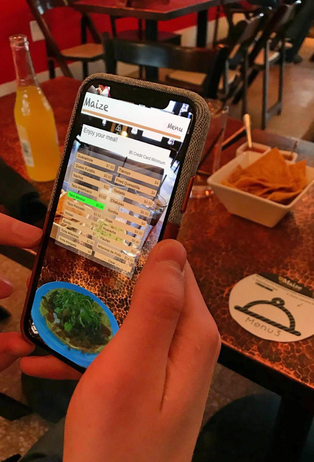 Menu3 is an app that allows diners to view menus from their phones. The app is being marketed to local restaurants.