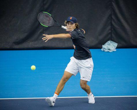 Men's tennis takes down No. 23 California, falls to No. 5 Stanford