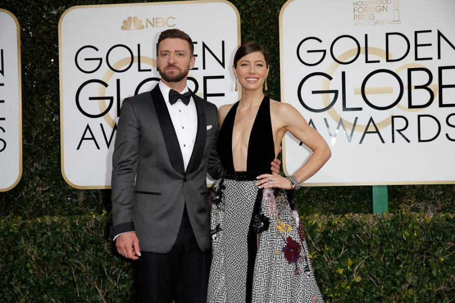 Jessica Biehl and Justin Timberlake arrive at the 74th Annual Golden Globe Awards show at the Beverly Hilton Hotel in Beverly Hills, Calif., on Sunday, Jan. 8, 2017. (Jay L. Clendenin/Los Angeles Times/TNS)
