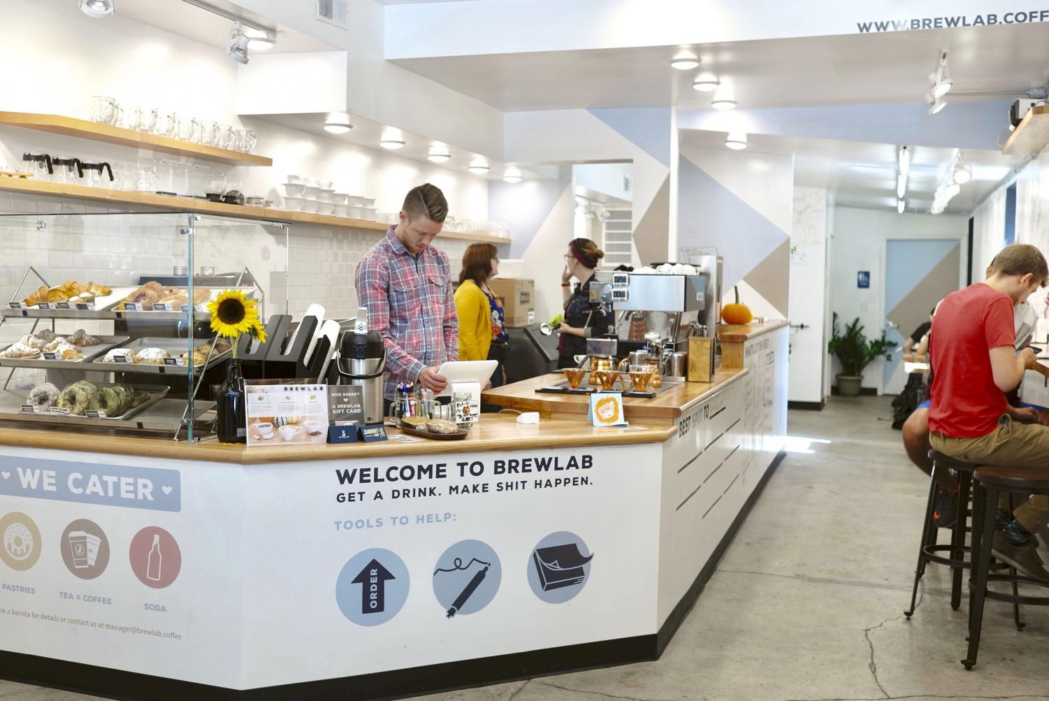 Brewlab offers specialty coffees, which are coffees  that have a distinct taste depending on where the coffee beans comes from. Brewlab, located at 630 S. Fifth St., is open from 7 a.m. to 7 p.m. during the week and 8 a.m. to 8 p.m. on the weekend.