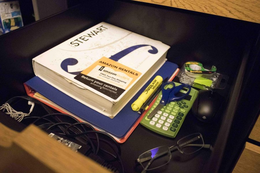Students keep their drawers organized to make it easier to look for something in a crunch of time.