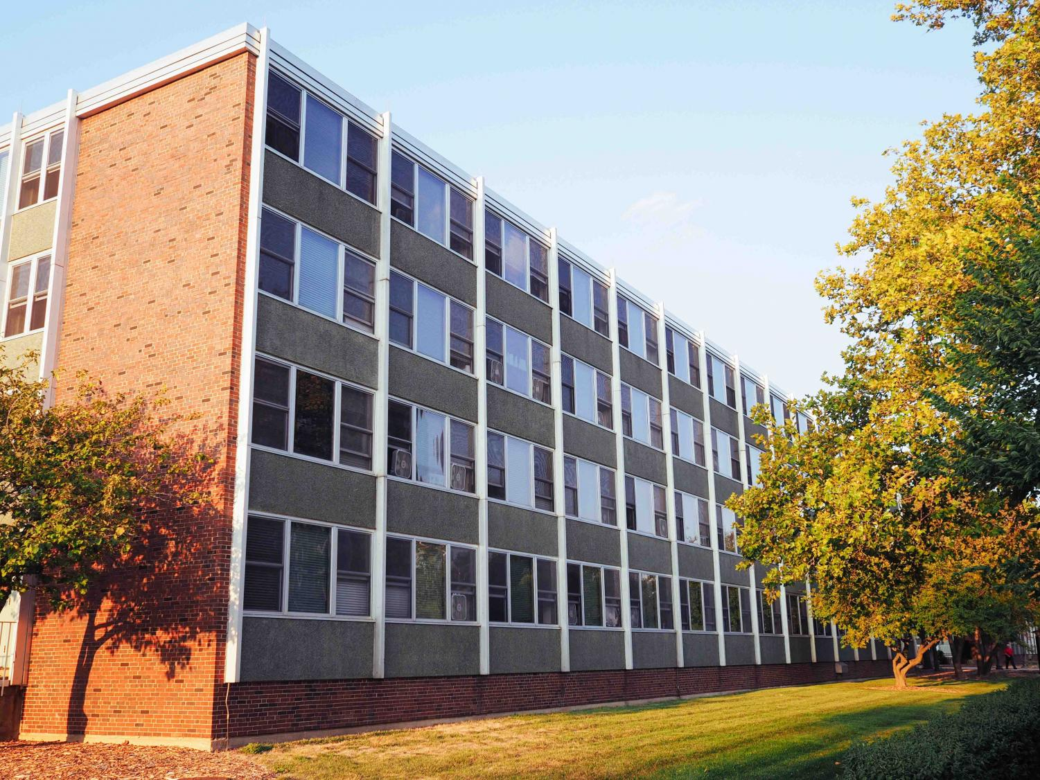 Pennsylvania Avenue Residence hall located on the south side of campus is a popular dorm for freshmen.