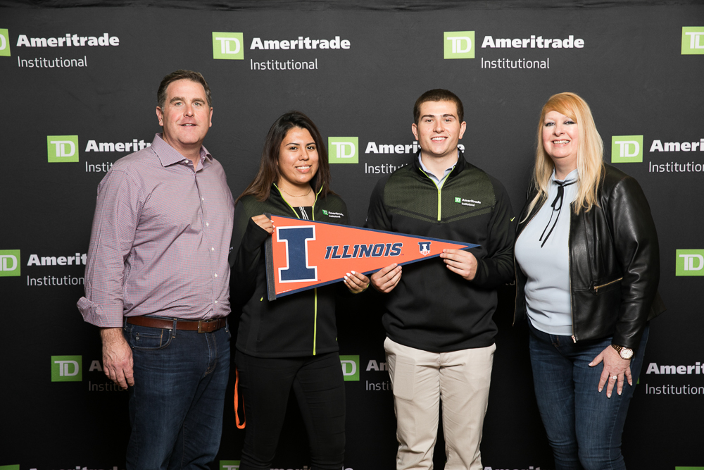 University students, Gabriela Contreras and James Donahue, attended Ameritrade LINC, an annual financial planning conference after winning a writing contest about the future of financial planning, which earned them a trip to one of the largest events in the industry.