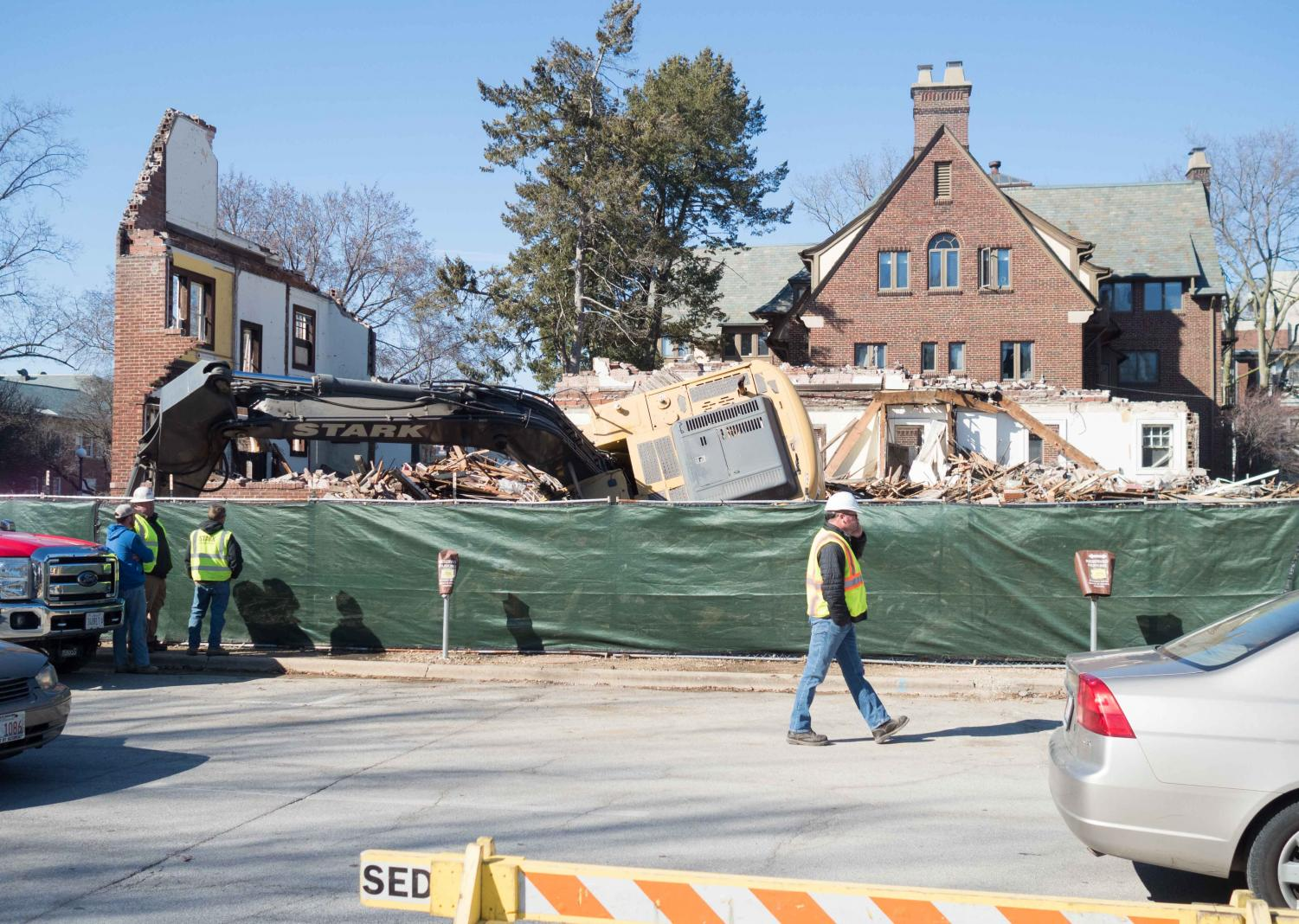 The former house for Bruce D. Nesbitt African American Cultural Center has been torn down and will be replaced with a new building at the same location. which is expected to open in 2018.