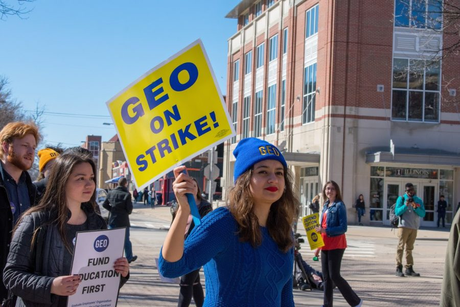 GEO+protest+on+the+Quad+on+Feb.+26.