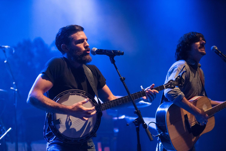 Scott Avett and Seth Avett of The Avett Brothers perform at Shepherd's Bush Empire on Aug. 30, 2016 in London.