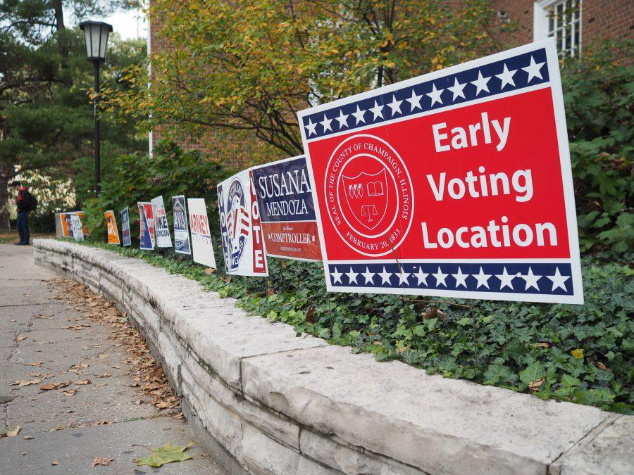 Early voting in Champaign County began March 13 and ended Monday.