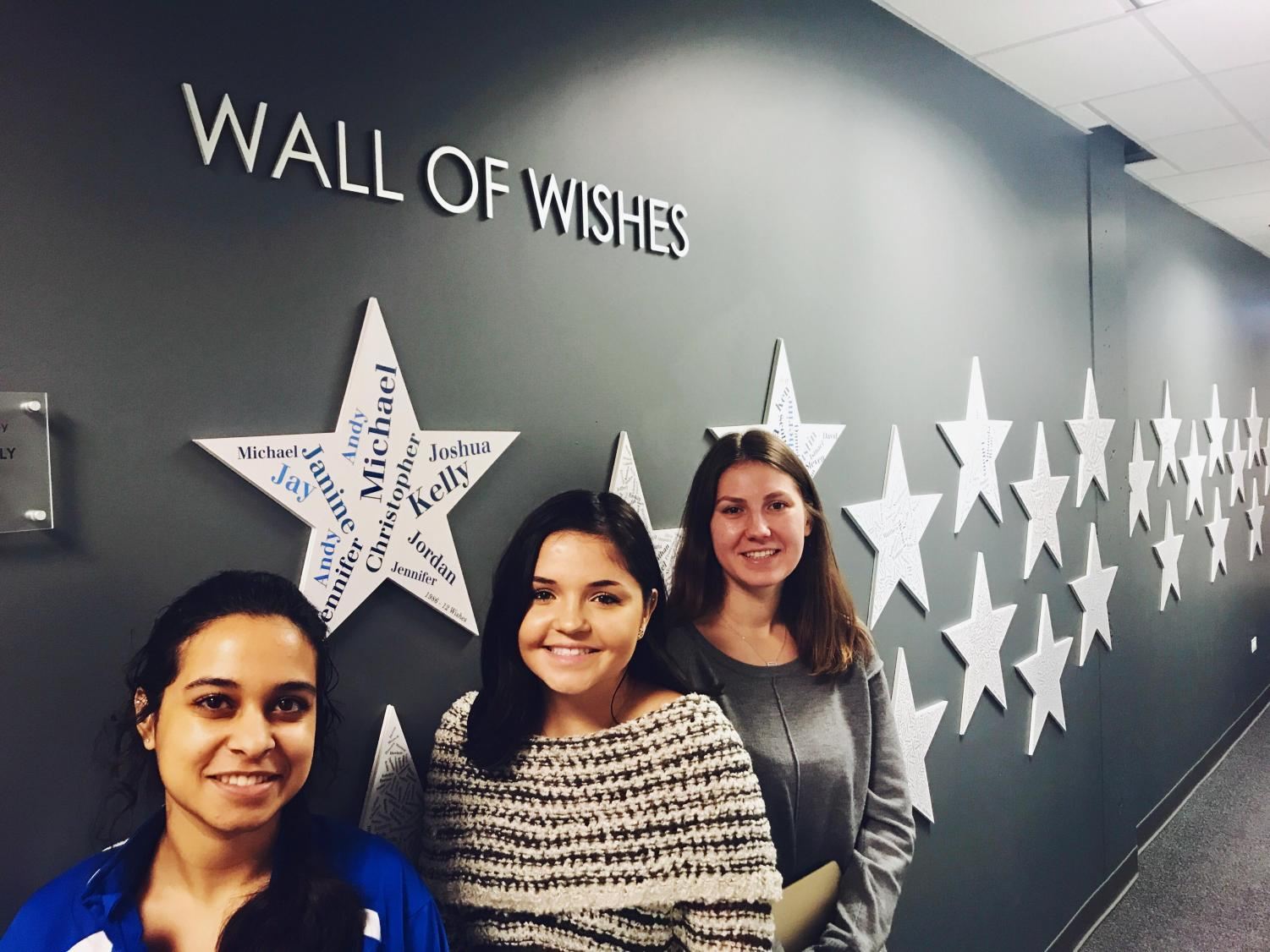 Natalia Wojnowski, Julia Bastow and Ema Khan at the Make a Wish office in Chicago.