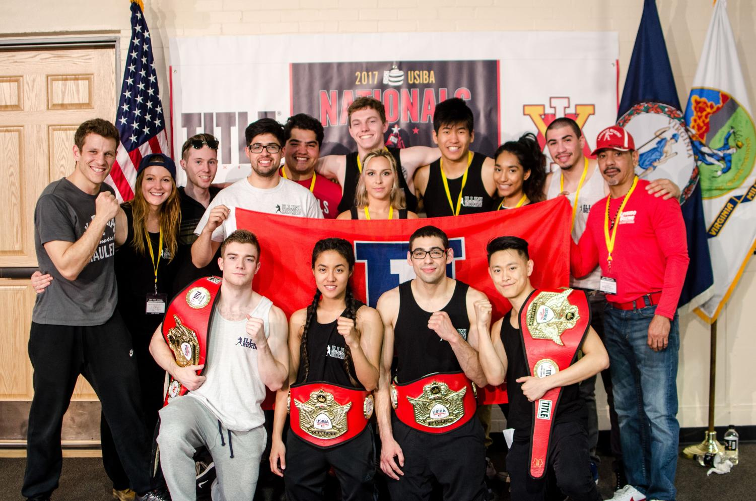 The Illini Boxing Club won 4 championship belts at the 2017 USIBA National Championships at the Virginia Military Institute in Lexington, Virginia.