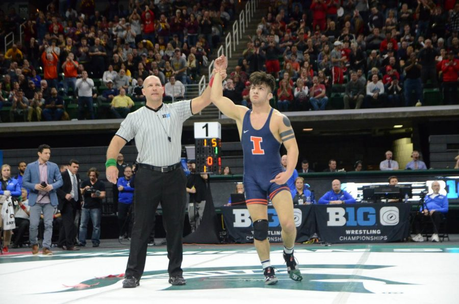 Martinez+became+the+first+Illini+to+win+four+Big+Ten+Championships%2C+and+he+hopes+to+win+the+national+championship.