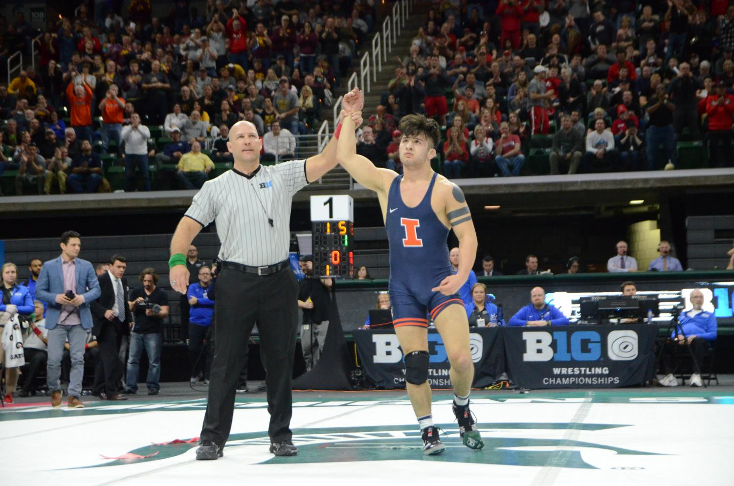 Martinez became the first Illini to win four Big Ten Championships, and he hopes to win the national championship.