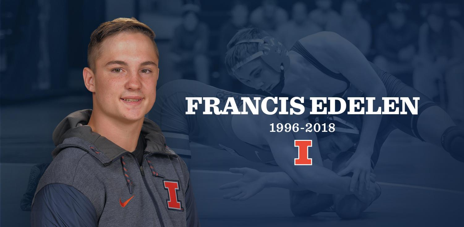 University student and Fighting Illini wrestler Francis Edelen was killed in a supposed hit-and-run on Interstate 57 in Champaign County Wednesday night.