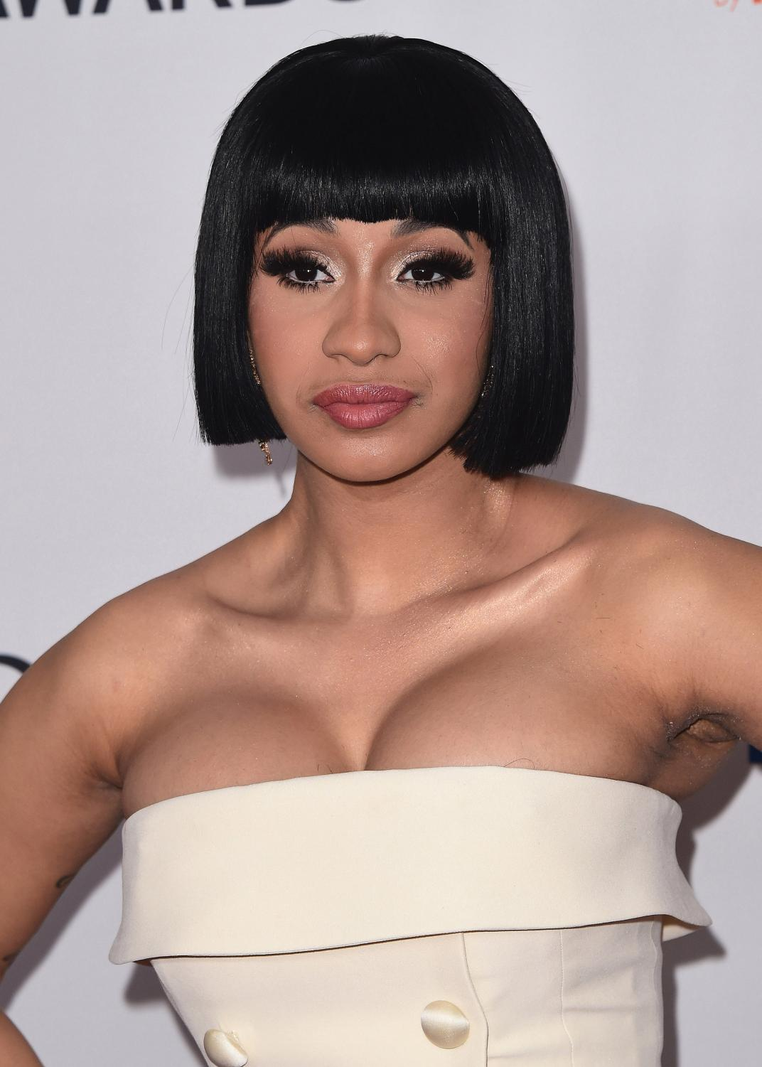 Cardi B at the 2018 Clive Davis Pre-Grammy Gala on January 27, 2018 at the Sheraton New York Times Square in New York, N.Y.