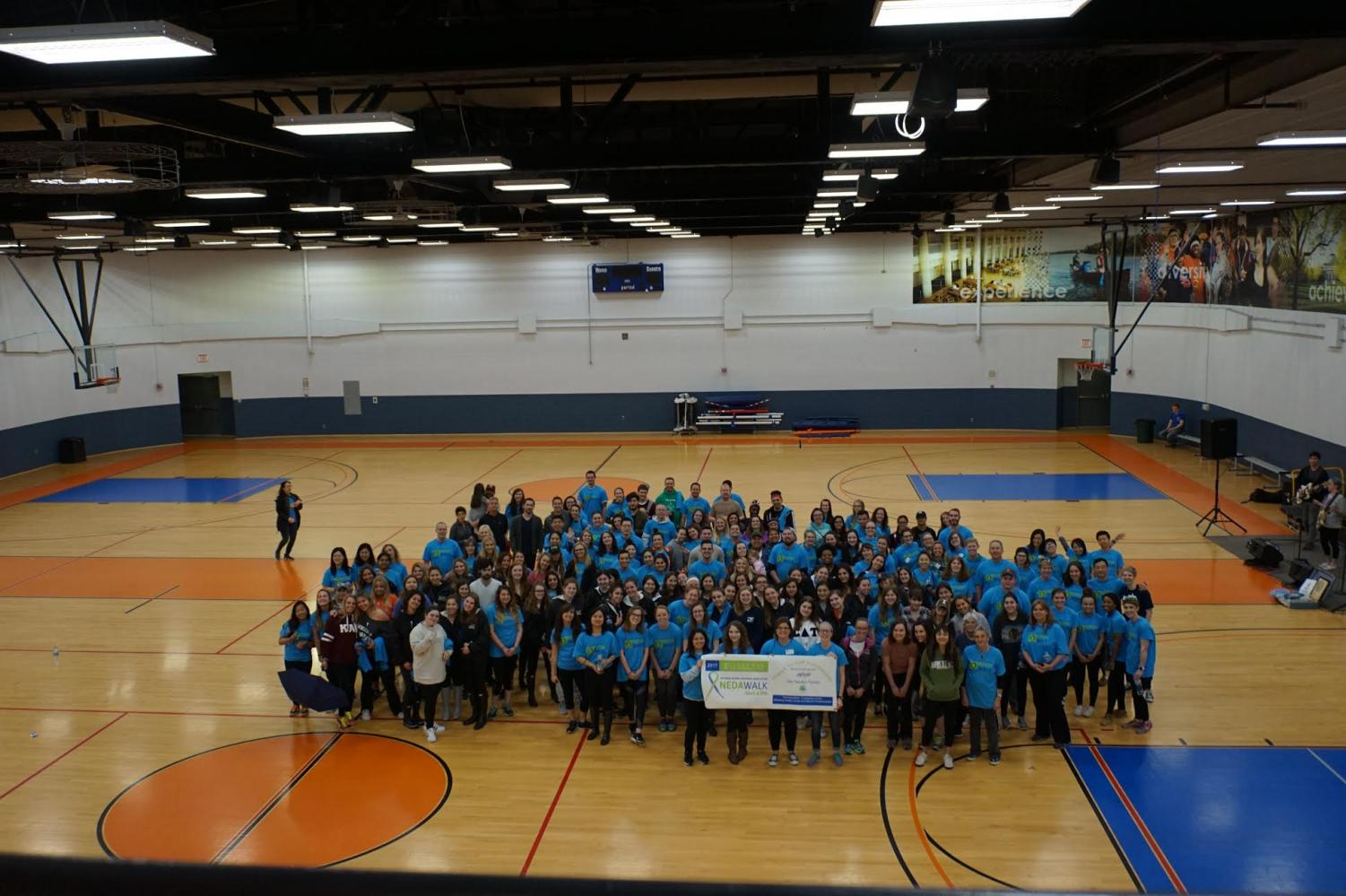 Participants of 2017 National Eating Disorders Association Walk. On April 21, the fifth annual walk will occur, the goal is to raise $25,000 which will go directly to NEDA.