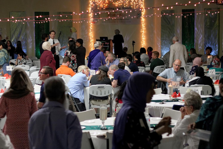 Members of Muslim American Society at the ninth annual interfaith Ramadan