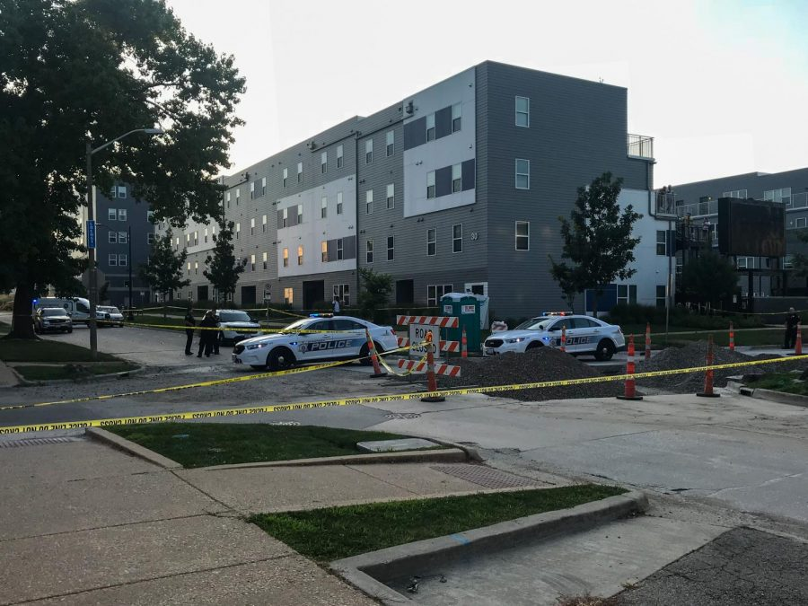 A police officer shot an allegedly armed student in the leg Thursday afternoon  near John and Locust streets. The 23-year-old male suffers non-life threatening injuries and has been taken to the hospital.