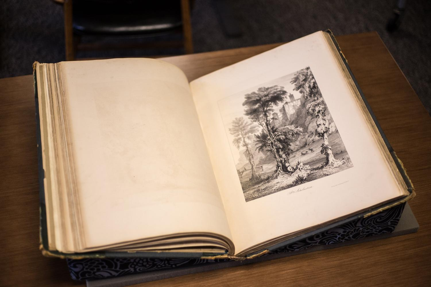 Sketches in Italy, a collection of picturesque sketches, at the Rare Book & Manuscript Library on July 9, 2018.