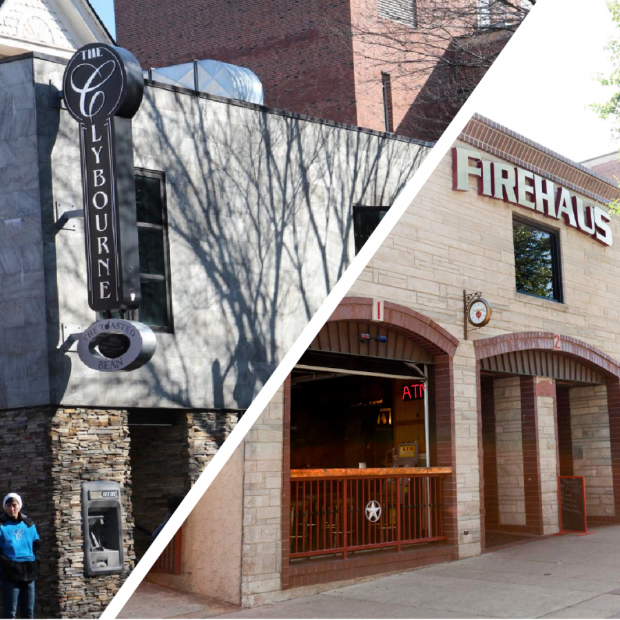 Campustown+bars+Firehaus+and+The+Clybourne+located+on+Sixth+Street.+Both+locations+will+be+demolished+and+potentially+turned+into+high-rise+buildings.