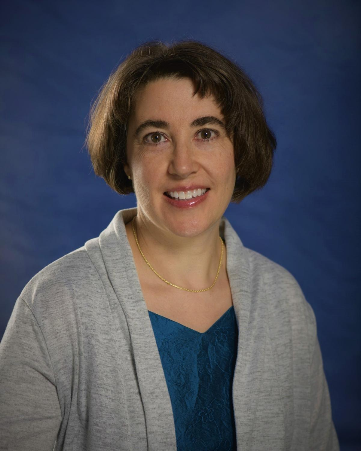 Professor Leanne Knoblock, recipient of the Charles H. Woodbert Research Award.