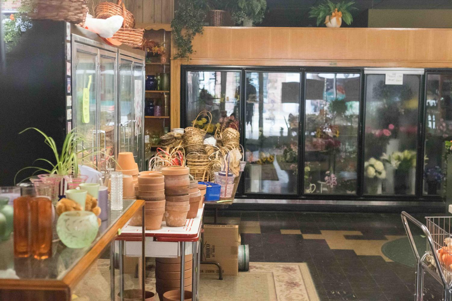 The interior of Campus Florist, located at 609 E. Green St. in Champaign. Campus Florist is closing in late October.