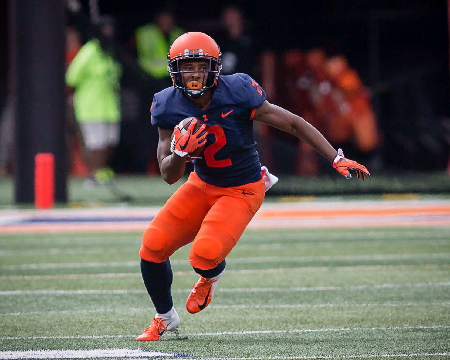 Illinois running back Reggie Corbin (2) runs with the ball during the game against Kent State at Memorial Stadium on Saturday, Sept. 1, 2018. The Illini won 31-24.