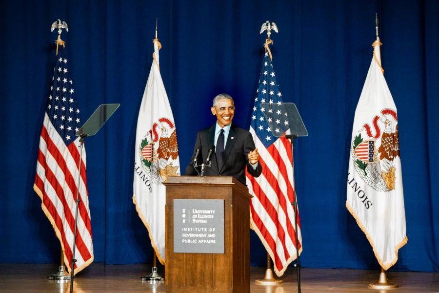 Former President Obama speaks at University