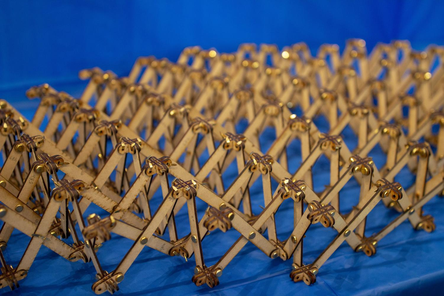 Student model from the class ARCH 536: Planning and Design of Structural Systems, taken at the Temple Buell Art Gallery, in the Architecture building on Monday.