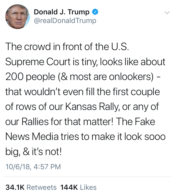 A tweet from President Donald Trump on Saturday. A new course is being offered to explore the relationship between the Trump administration and mainstream media.