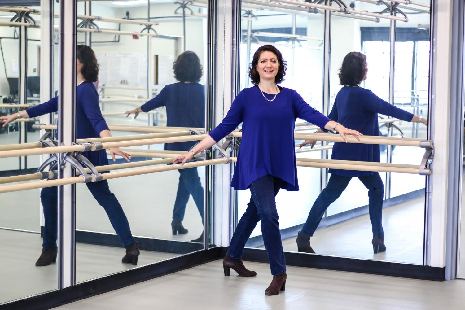 Dr. Citlali Lopez-Ortiz serves as pioneer for the study of movement therapy, specifically the effects ballet has on her students. Through her studies, Lopez-Ortiz has seen 50 to 60 percent of overall improvement with her subjects in her multiple sclerosis study, crediting it to the combination of motor learning and movement meditation.