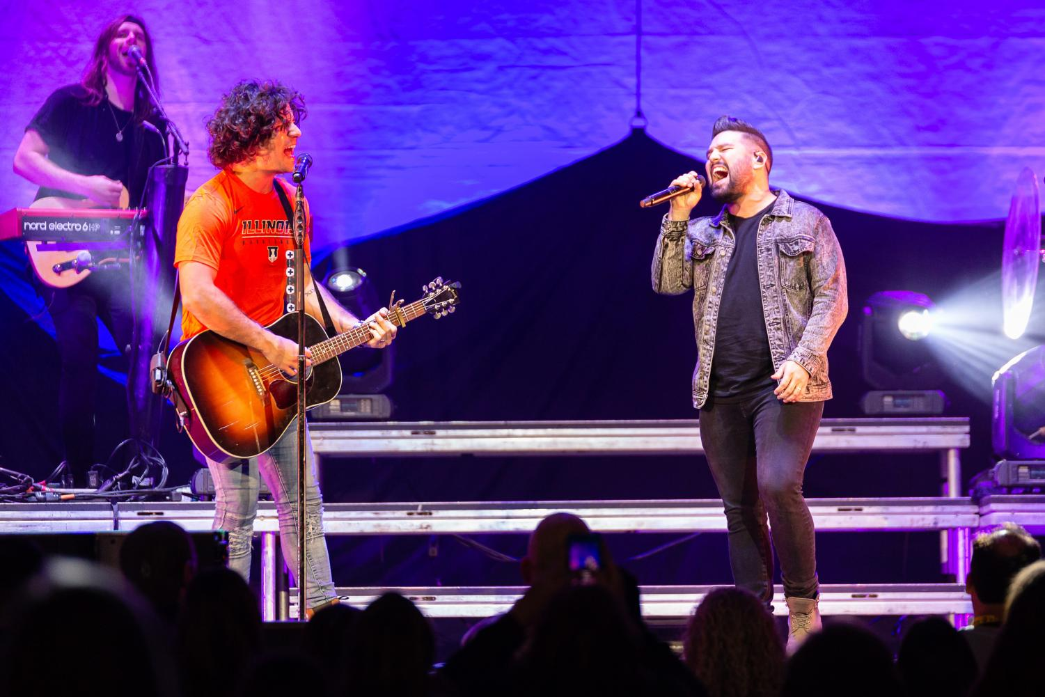 Country music duo Dan and Shay open for Chris Young on the Losing Sleep World Tour at State Farm Center on Saturday, Oct. 27, 2018.