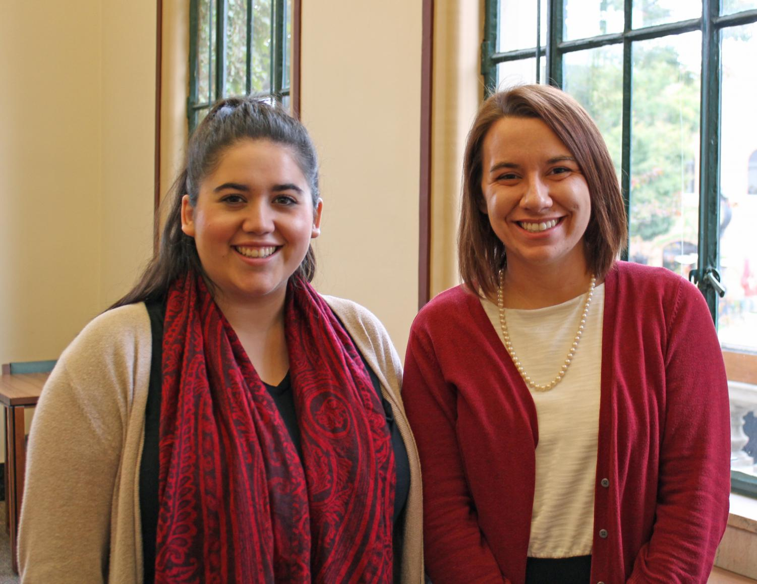Angela Solis and Kelsey Pietens, apprentices at the Urbana Free Library, were chosen among 40 applicants for the opportunity to gain hands-on experience in a library.