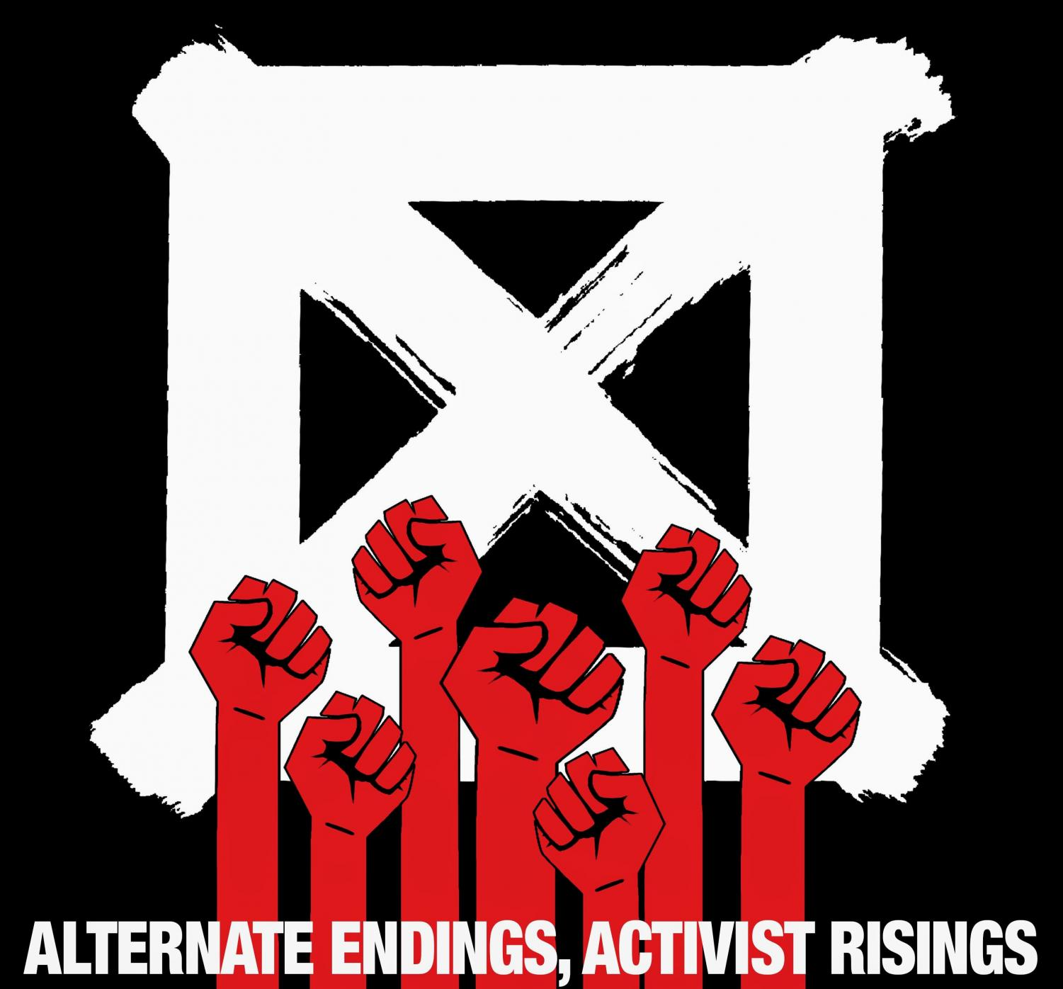 "The billboard for ""Alternate Endings, Activist Risings."" It is a film produced by Visual Aids, a contemporary art organization, for its 29th Day With(out) Art project. It highlights the prevalent issues surrounding the AIDS pandemic today."